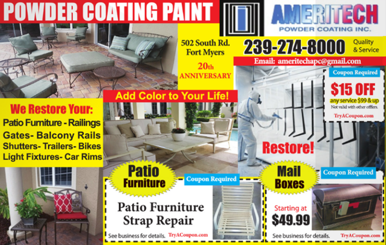 Contractor coupons - Ameritech Powder Coating - Home Coupon Book