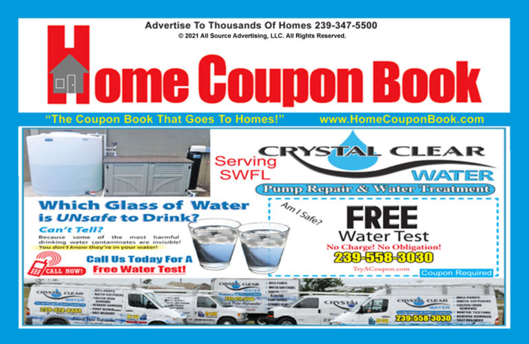 Homes Coupon Book is delivered to houses and businesses