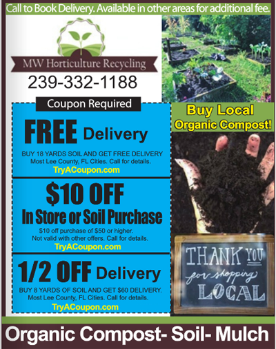 Home Coupon Book. Coupon Book that go to Homes - MW Horticulture - Mulch - Soil - Organic